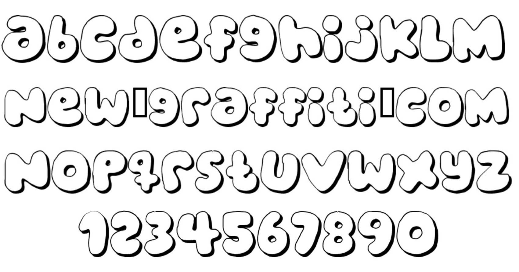 Bubble Letters Alphabet Font