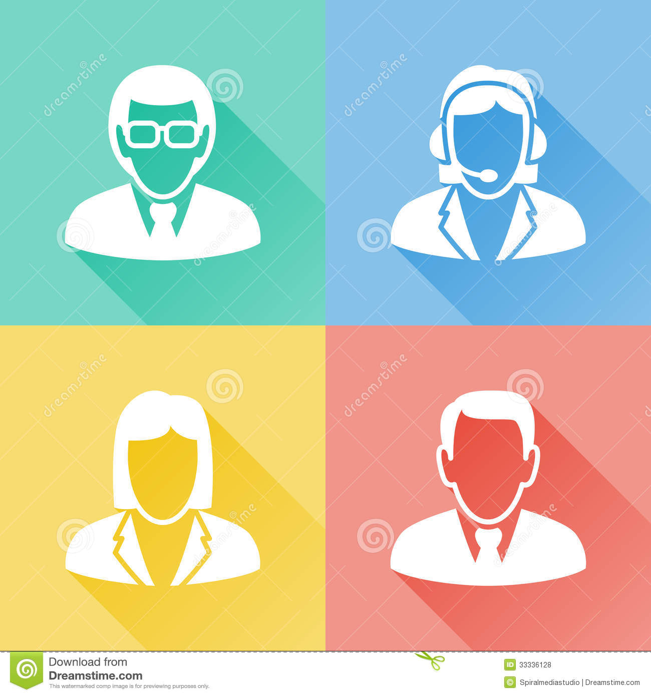 Business Flat Icons People