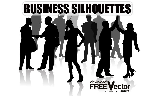 14 Free Vector Business Silhouettes Images