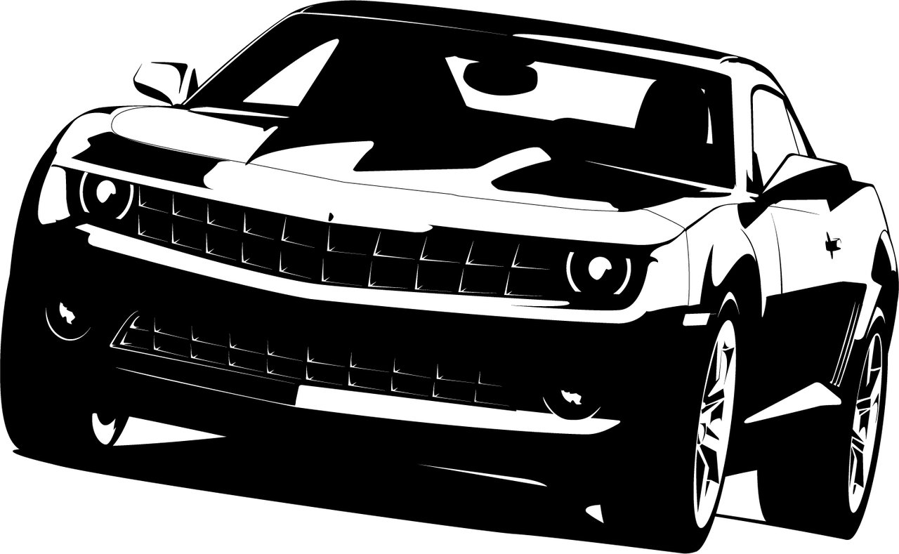 14 Camaro Vector Art Black And White Images