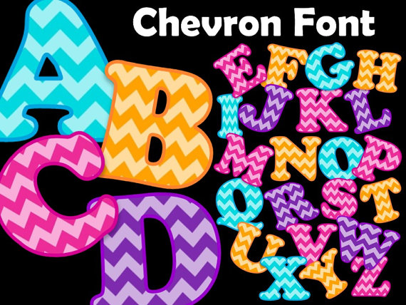 13 Free Fonts For Download Chevron Images