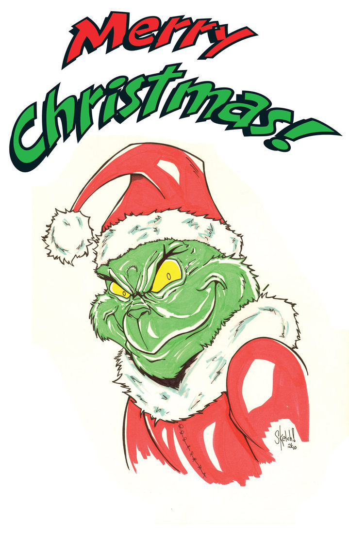 6 Christmas Grinch Emoticons Images