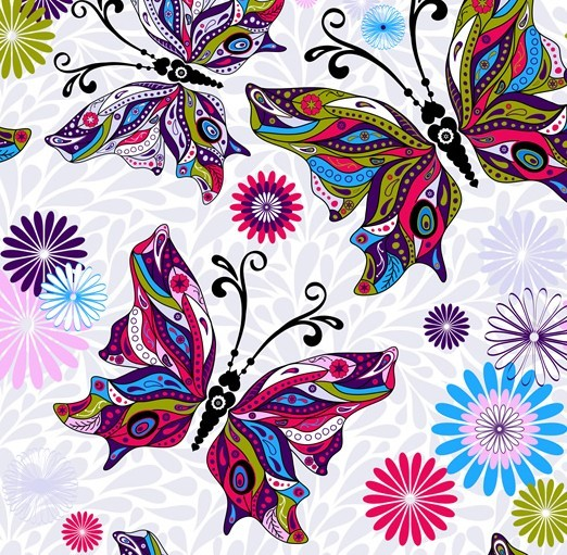 16 Vector Colorful Butterflies Wallpaper Images Colorful Butterfly