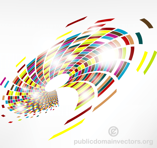 Colorful Vector Graphics Swirls