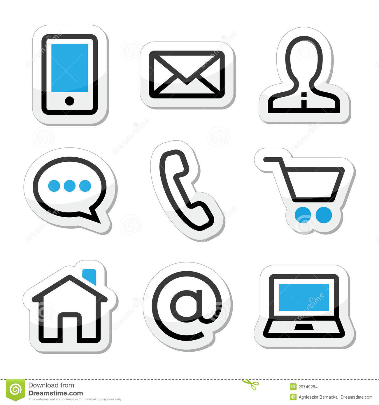 10 Contact Icon Set Images - Contact Us Icon Set, Contact ...