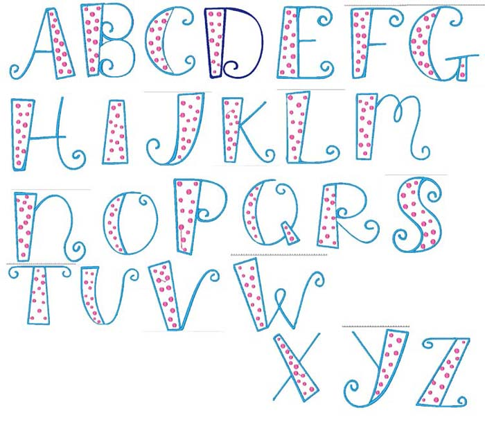 11 Free Letter Fonts And Alphabets Images - Printable