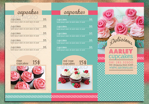 bakery brochure template free - 10 psd tri fold menu templates free images tri fold