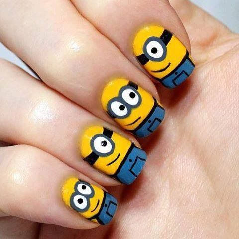 9 Minion Nail Art Designs Images