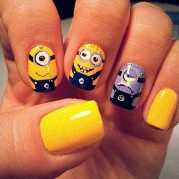 Despicable Me Minion Nail Designs