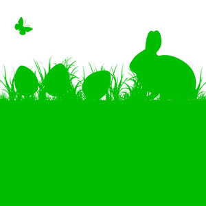 Easter Bunny Silhouette Vector Free