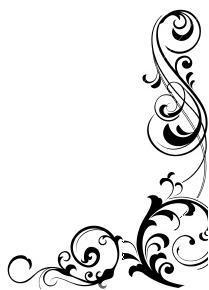 Elegant Swirl Designs Corners