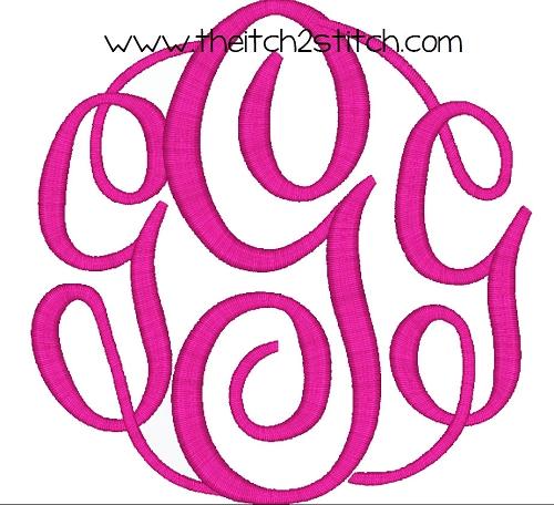 17 Monogram Master Circle Font Images