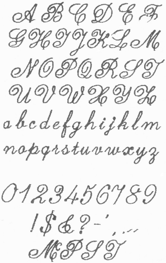 Fancy Cursive Fonts Alphabet
