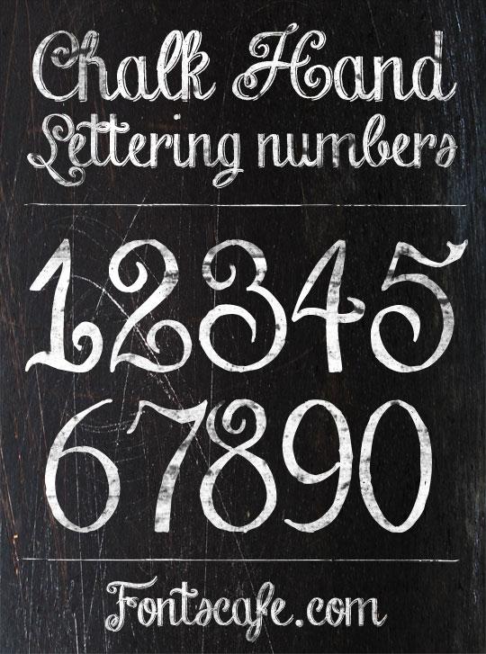 12 Chalk Lettering Font Images