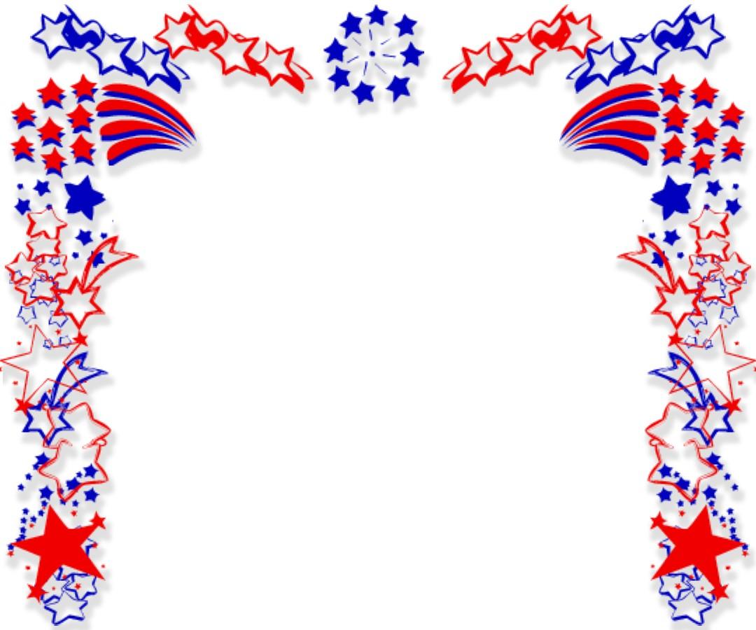 Free Patriotic Borders Clip Art