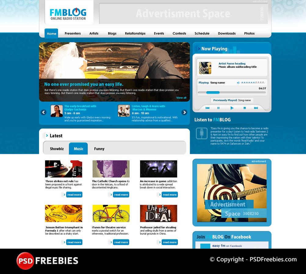 13 Blog Design PSD Images