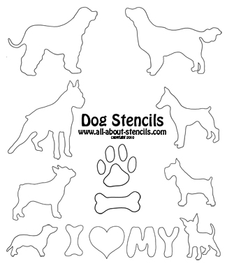 11 Dog Stencils Designs Images
