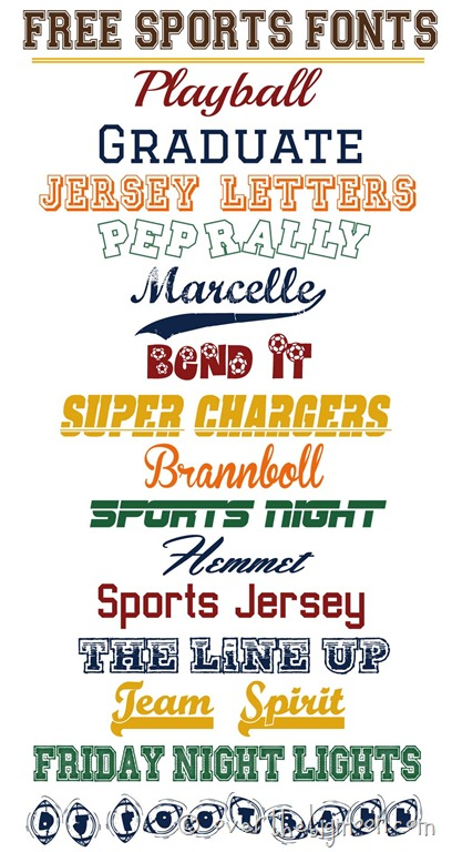 12 Free Sports Fonts Images