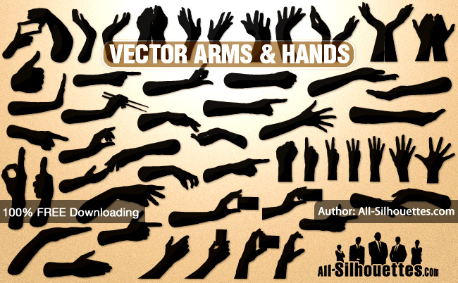 16 Silhouette Firearms Vector Images