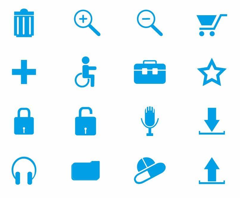 14 Blue Web Buttons Vector Images