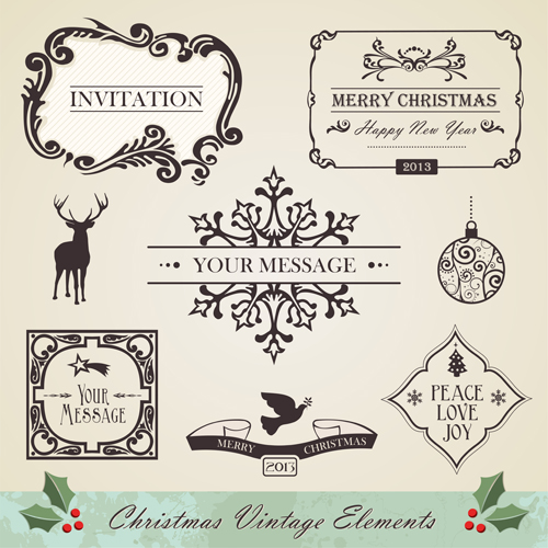 Free Vintage Christmas Ornament Vectors