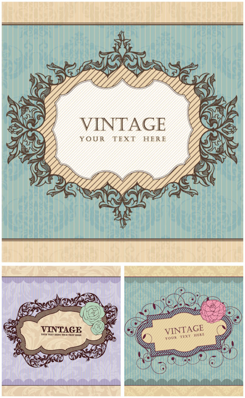 15 Vintage Vector Frames Free Download Images