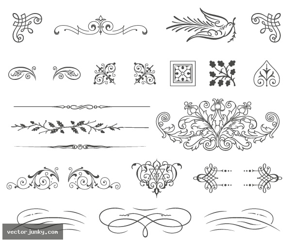 18 free vintage vector ornaments images free vector ornament free vintage vectors junglespirit Images