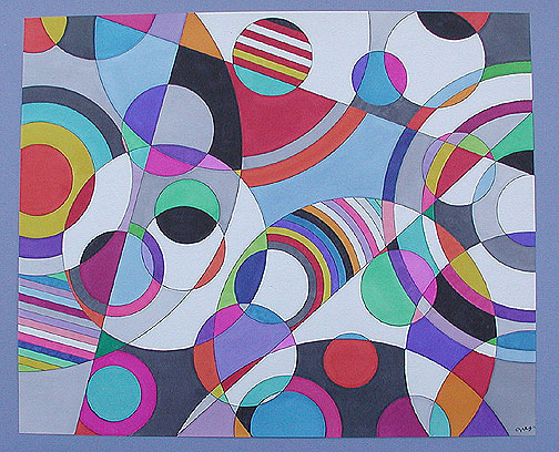 Geometric Shapes Painting Art