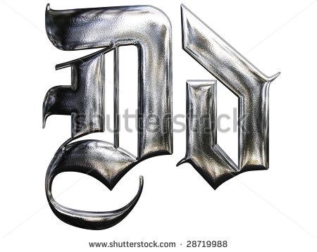 14 Metallic German Gothic Font Images