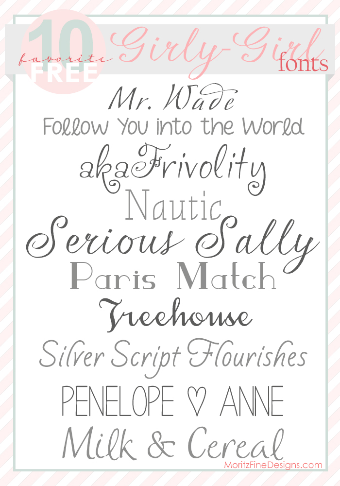 7 free girly fonts images girly cursive tattoo fonts for Girly font tattoo