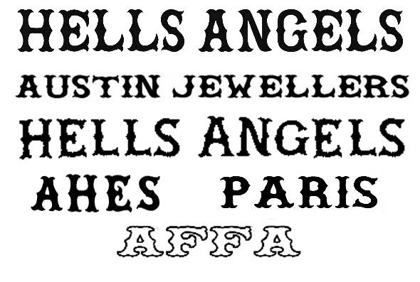 Hells Angels Lettering Font