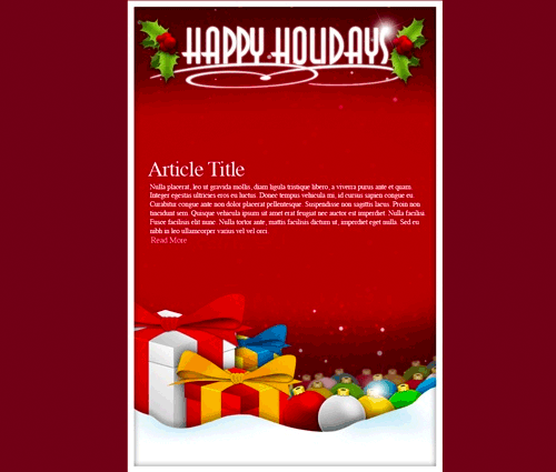 6 Happy Holidays Email Template Images