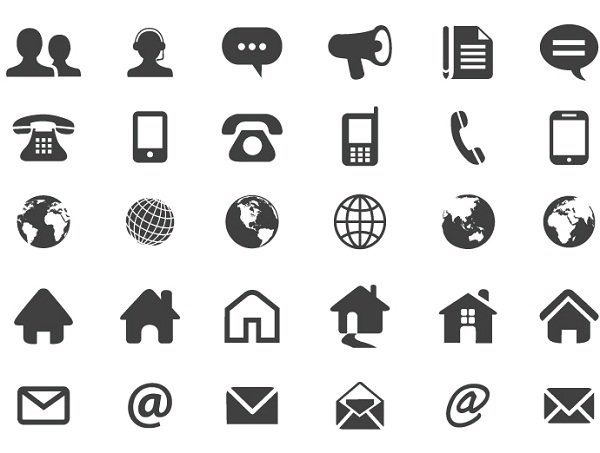10 contact icon set images