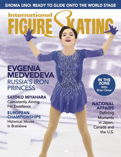 6 Figure Skating Magazine Cover PSD Images