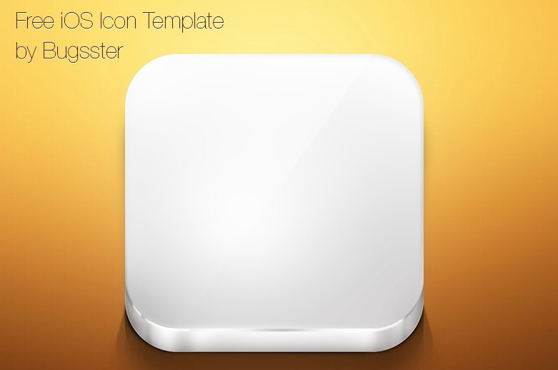 iOS App Icon Template PSD