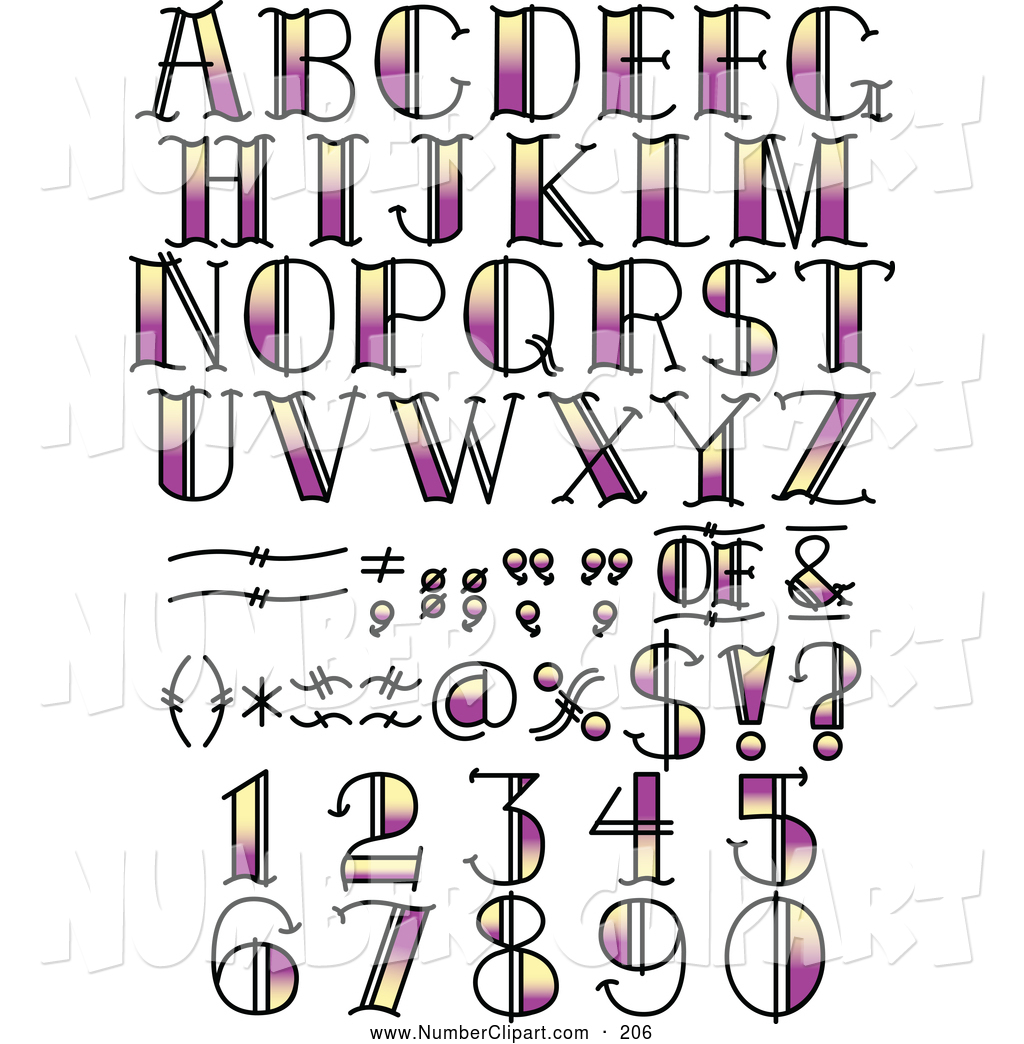 11 by the numbers font images
