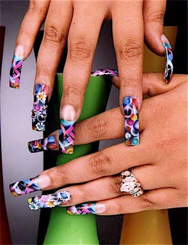 Long Ghetto Nail Designs for Crazy