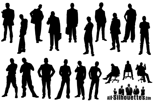 14 Black Men Silhouette Vector Free Images