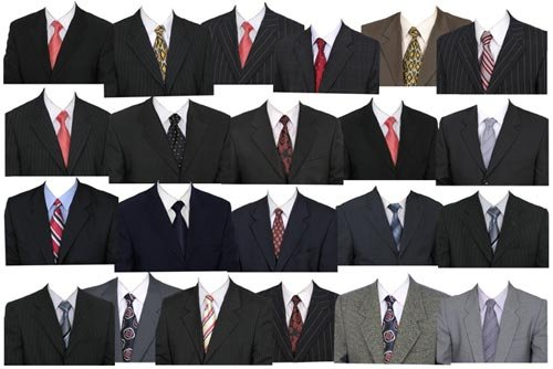 12 Men's Suit Template PSD Photoshop Images