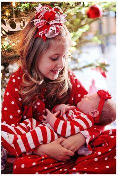 Newborn Baby Girl Christmas Photography