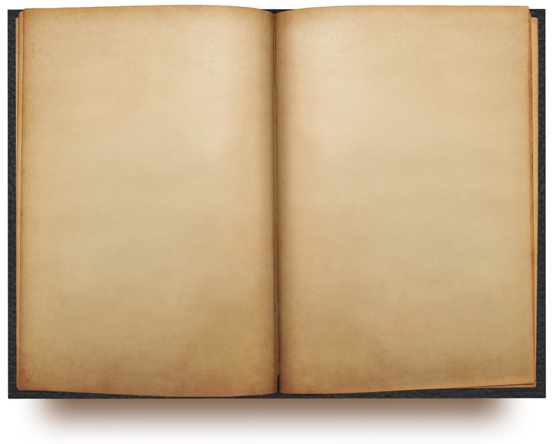 Old Blank Open Book Template