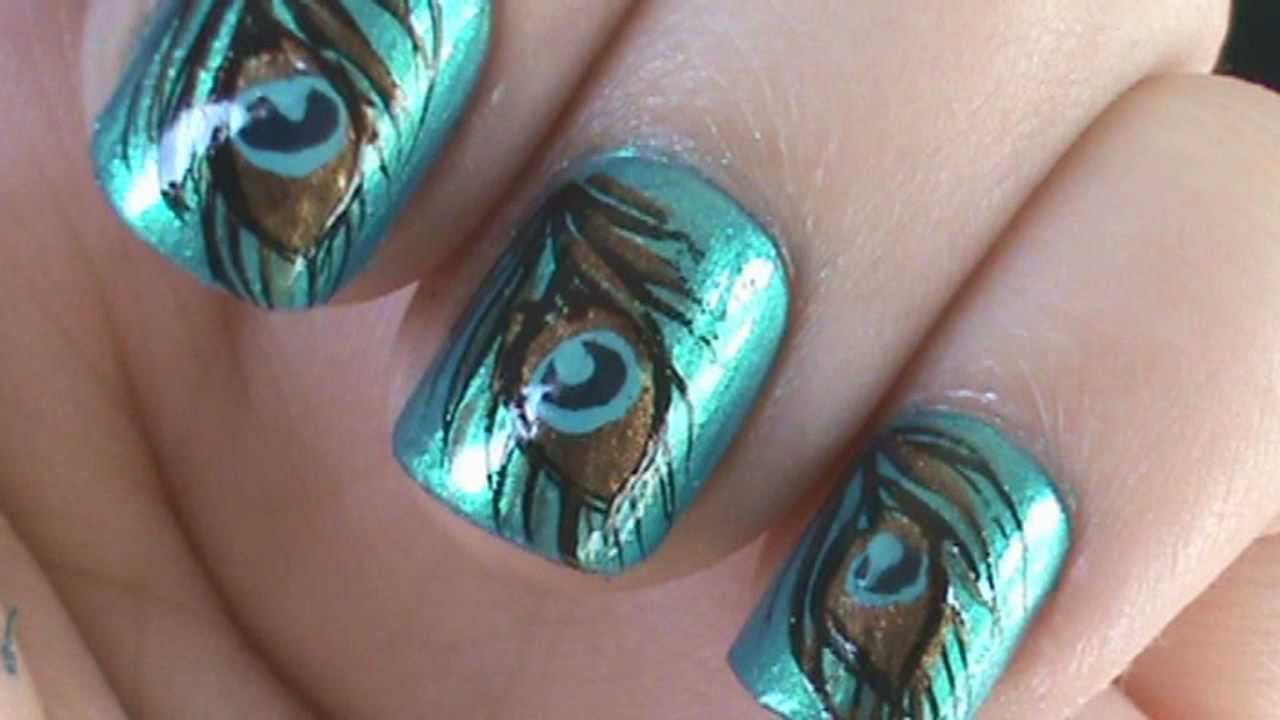 13 Peacock Nail Designs Images