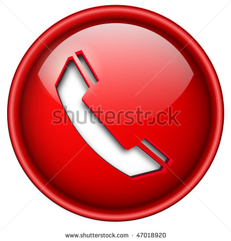 Phone Icon Red Circle