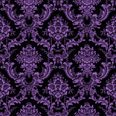 Purple Abstract Designs Via Pink Black And Gold Background