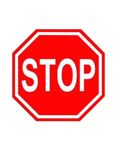 Persnickety image with printable picture of a stop sign