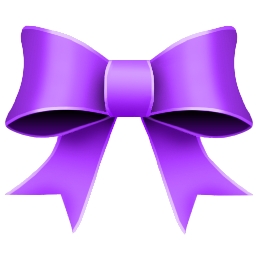 6 Purple Christmas Bow PSD Images