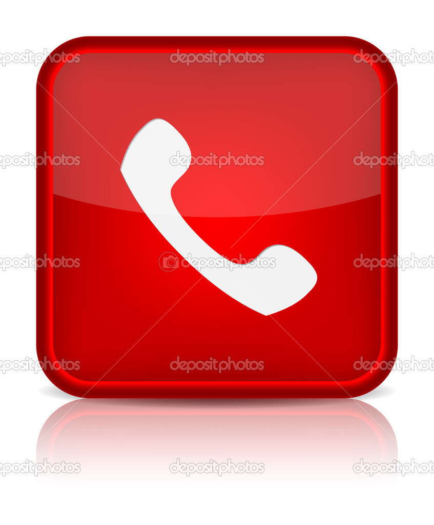 Red Phone Button Icon