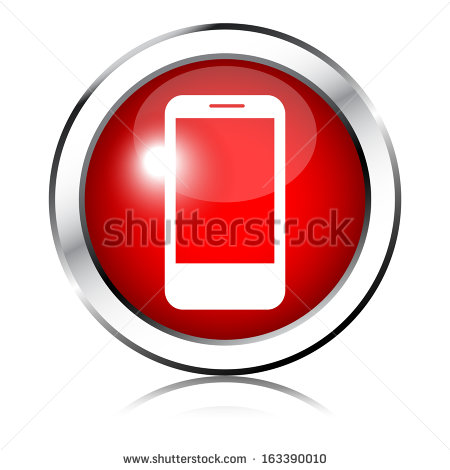 Red Phone Icons Vector Free