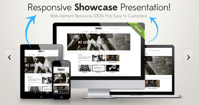 11 Website Showcase PSD Images