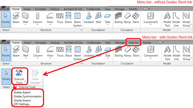 Revit Application Menu Option